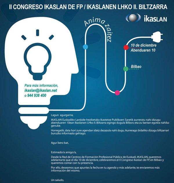 II Congreso Ikaslan - Conectando con el futuro